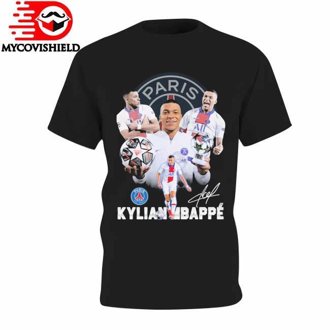 Paris Saint Germain Kylian Mbappe signature shirt