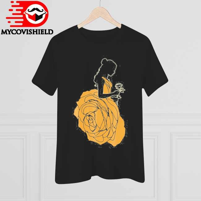 Beauty and the beast belle a rose dress graphic shirt