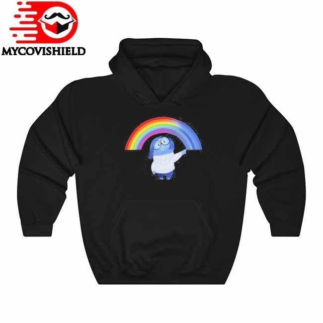 Inside out sadness rainbow graphic Hoodie