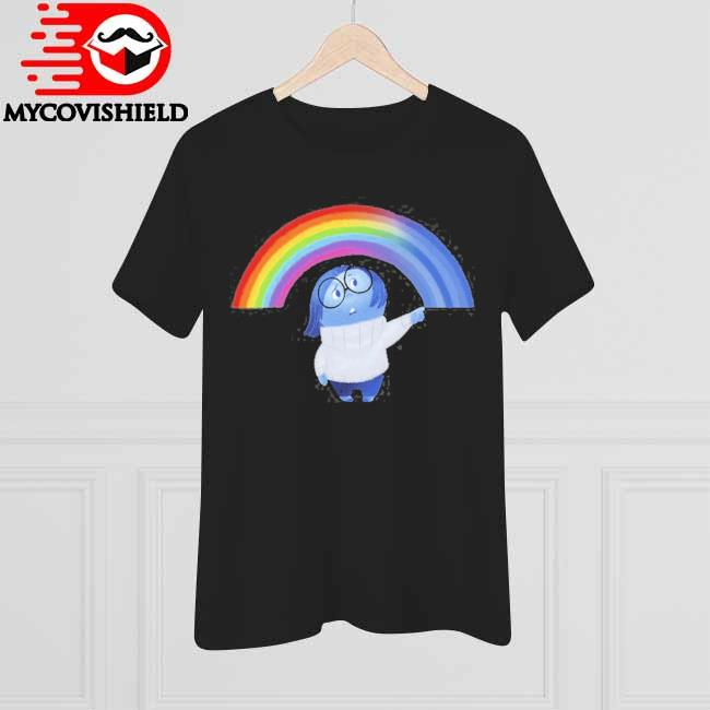 Inside out sadness rainbow graphic shirt