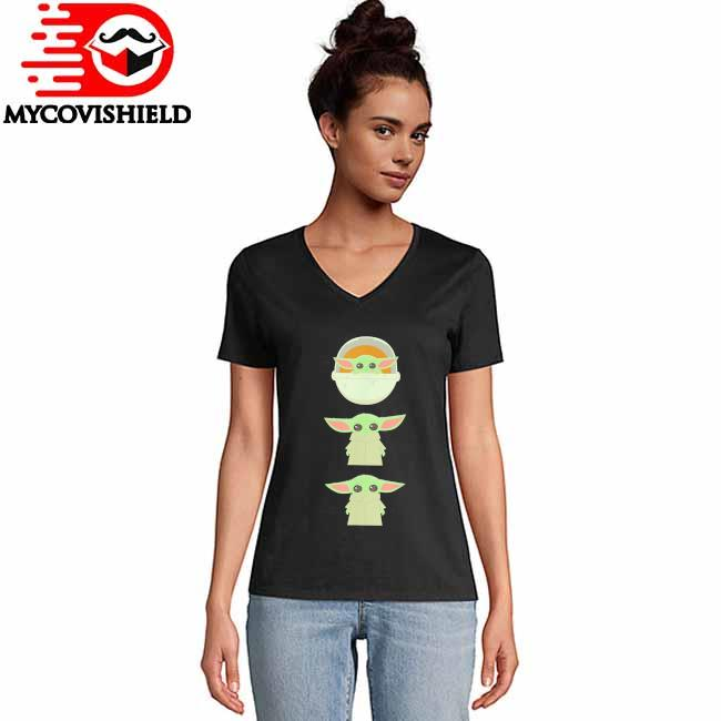 Star Wars The Mandalorian The Child Cartoon Poses T-Shirt