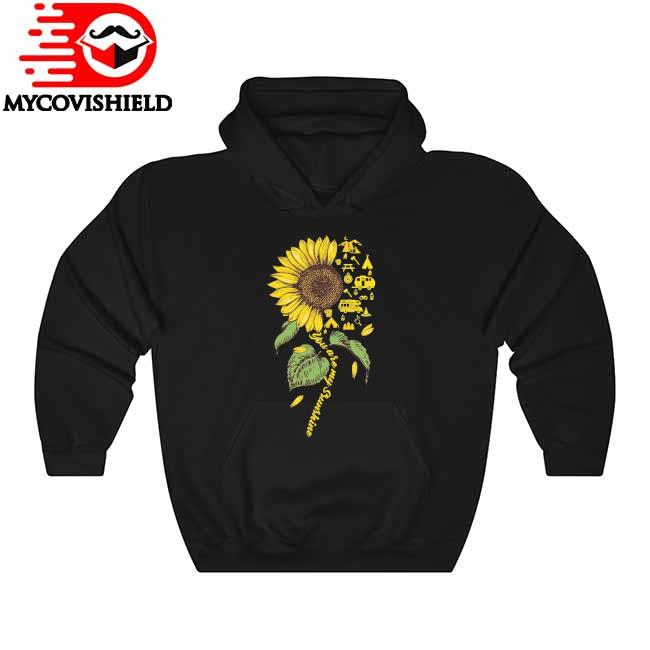 Official Sunflower Camping dandelion You are My Sunshine Hoodie