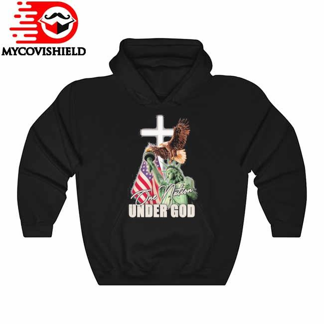Eagles Liberty American flag One Nation Under god Hoodie