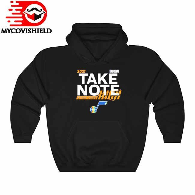 Utah Jazz Fanatics Branded 2021 NBA Playoffs Bound Dunk T-Shirt Hoodie