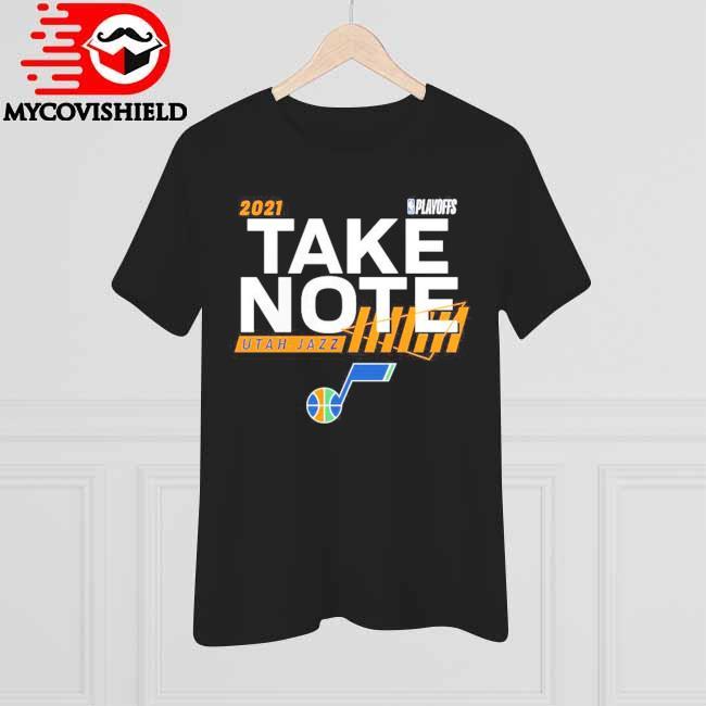 Utah Jazz Fanatics Branded 2021 NBA Playoffs Bound Dunk T-Shirt
