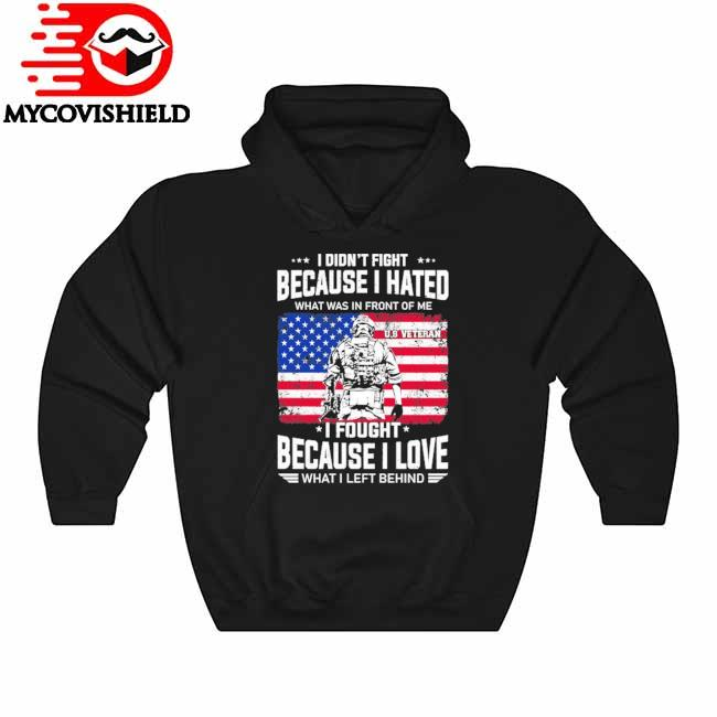 Veteran I didn't fight because I hated what was in front of me I fought because I love what I left behind American flag Hoodie